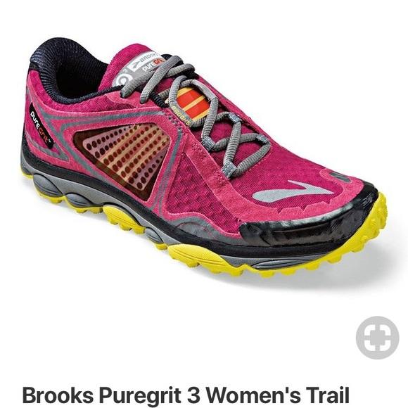 fd6bca43d11 Brooks Shoes - Brooks Women PureGrit 3 Trail Running Shoe-Sangria